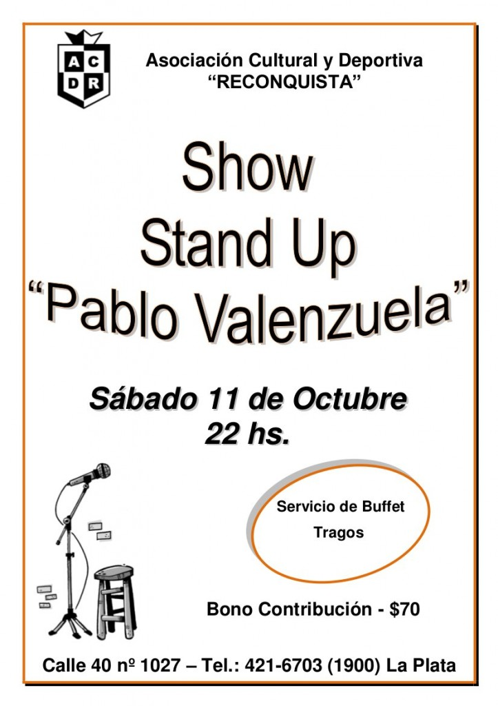 Afiche stand up